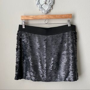 NWT BCBGMAXAZRIA black sequin skirt